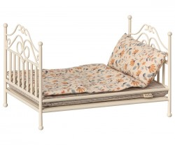 maileg Vintage Bed soft sand micro-20
