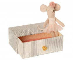 maileg Dance Mouse in Day Bed little sister-20