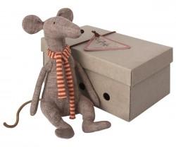 maileg Cool Rat in Box grey-20