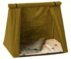 maileg Mouse Happy Camping Tent grøn-20