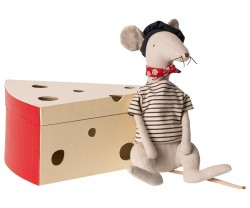 maileg Rat in cheese box-20