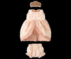 maileg Micro and Mouse Princess dress rose-20