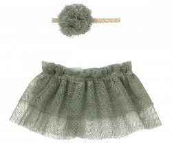 maileg Tutu and Hairband mini petrol-20