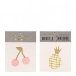 Meri Meri Tatoos Cherry and Pineapple small Kommer på lager i november-20