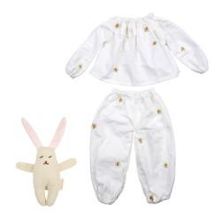 Meri Meri Dukketøj Pyjamas sæt m/ kaninbamse-20