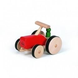 nic Traktor i massivt træ rød-20