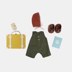 Olli Ella Dukktøj Dinkum Doll Travel Togs mustard-20