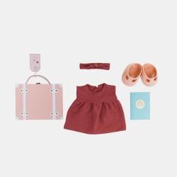 Olli Ella Dukktøj Dinkum Doll Travel Togs rose Foventes på lager i december-20