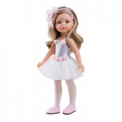 Paola Reina Dukketøj Amiga Ballerina kjole hvid-20