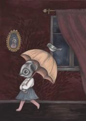 Kajsa Wallin Print The Umbrella Adventure A4-20