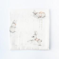 Petit COCO Stofble m/kanin douce lyserød 75 x 75 cm-20
