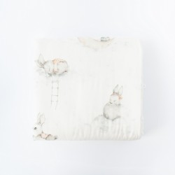 Petit COCO Swaddle m/kanin douce lyserød 120 x 120 cm-20