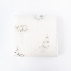 Petit COCO Swaddle m/kanin douce blå 120 x 120 cm-20