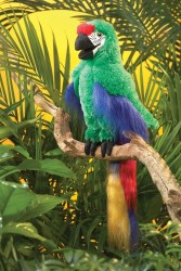 Folkmanis Green Macaw papegøje-20