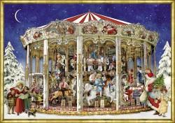 Spiegelburg Julekalender Nostalgic Christmas Merry-Go-Round vintage design-20