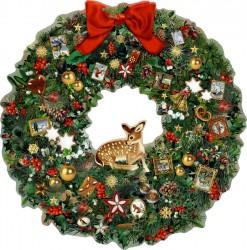 Spiegelburg Julekalender Festive Wildlife Wreath vintage design-20