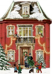 Spiegelburg Julekalender Mini Nostalgisk Jul Victorian House vintage design-20