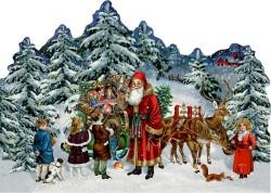 Spiegelburg Julekalender Mini Nostalgisk Jul Santa vintage design-20