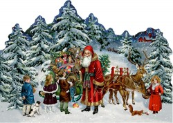 SpiegelburgJulekalenderMiniNostalgiskJulSantavintagedesign165x115cm-20