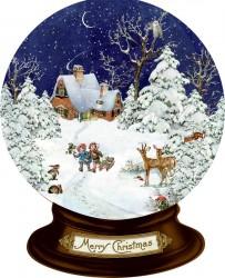 Spiegelburg Julekalender Mini Nostalgisk Jul Snow Globe vintage design-20