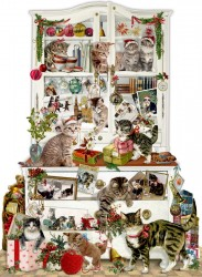 Spiegelburg Julekalender Mischievous Christmas Cats vintage design-20