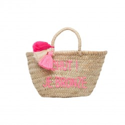 ROSE IN APRIL POMPON BASKET CHUT ! JE BRONZE-20