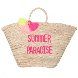ROSE IN APRIL POMPON BASKET SUMMER PARADISE adult-20