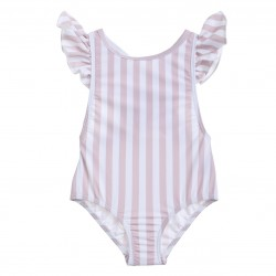 Willow Swim Badedragt Gracie stribet rosa/creme-20