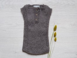 astas Vest baby alpaca wool brown-20