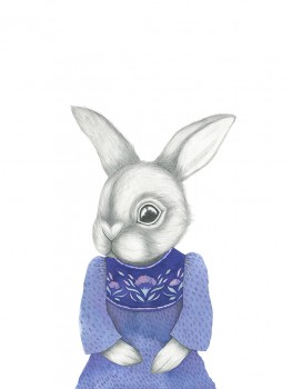 Kajsa Wallin Print Cecilia the rabbit 30 x 40 cm-20