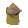 maileg Baby Pindsvin med blad-01