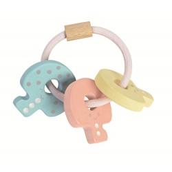 Plan Toys Nøgle rangle pastelfarver-20