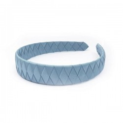 Verity Jones London French Blue Braided alice hair band large-20