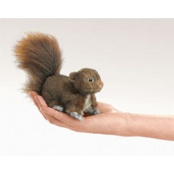 Folkmanis Fingerdukke Mini Red Squirrel-20