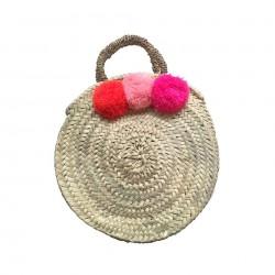 ROSE IN APRIL Pompom Basket Gaby orange/light pink/neon pink-20