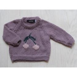 astas Cherry sweater double leaf light lavender-20