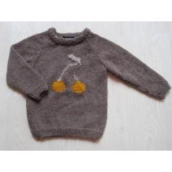 astas Cherry Sweater dark brown/mustard cherry-20