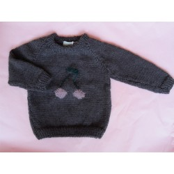astas Cherry Sweater plum/dusty pink cherry-20