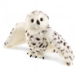 Folkmanis Hånddukke Snowy Owl-20